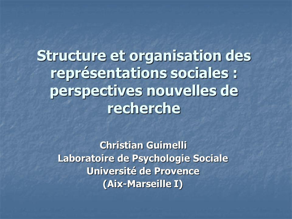 Laboratoire de Psychologie Sociale Université de Provence