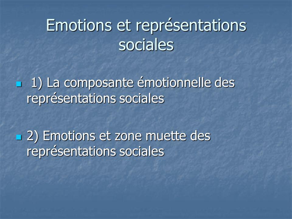 Emotions et représentations sociales