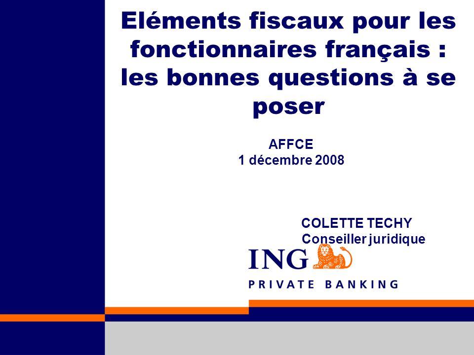 AFFCE 1 décembre 2008 COLETTE TECHY Conseiller juridique
