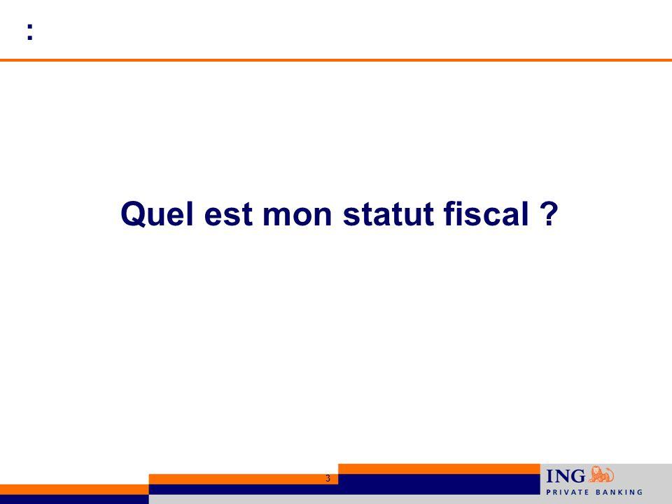 : Quel est mon statut fiscal