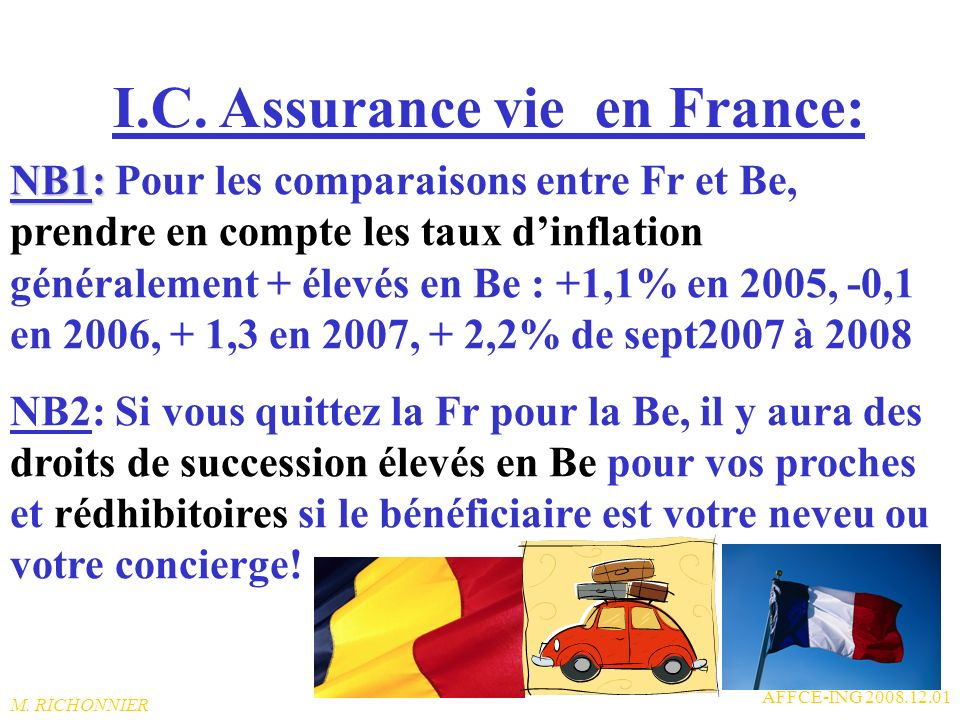 I.C. Assurance vie en France: