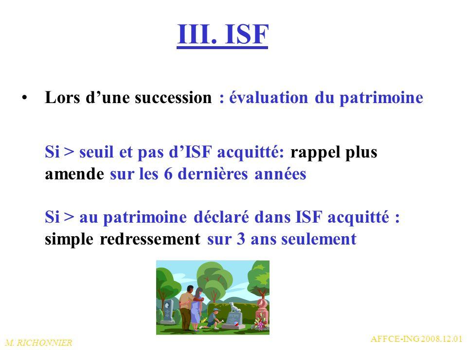 III. ISF Lors d'une succession : évaluation du patrimoine