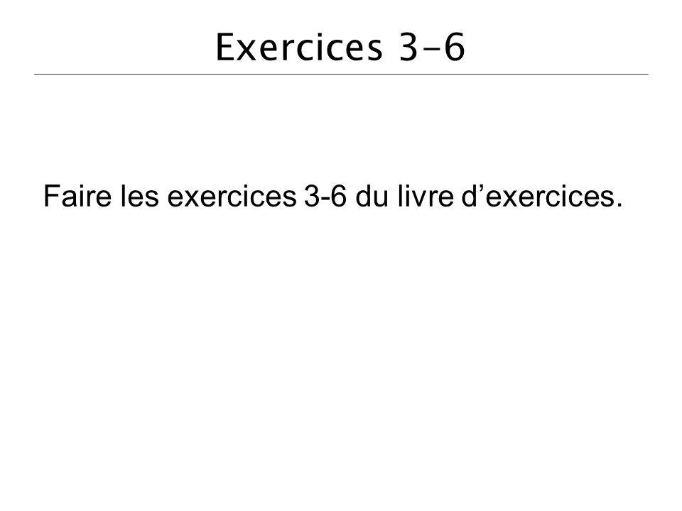 Faire les exercices 3-6 du livre d'exercices.