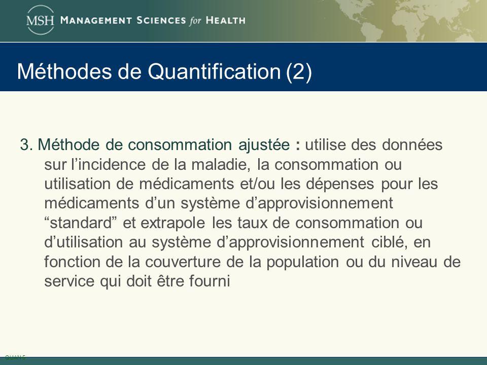 Méthodes de Quantification (2)