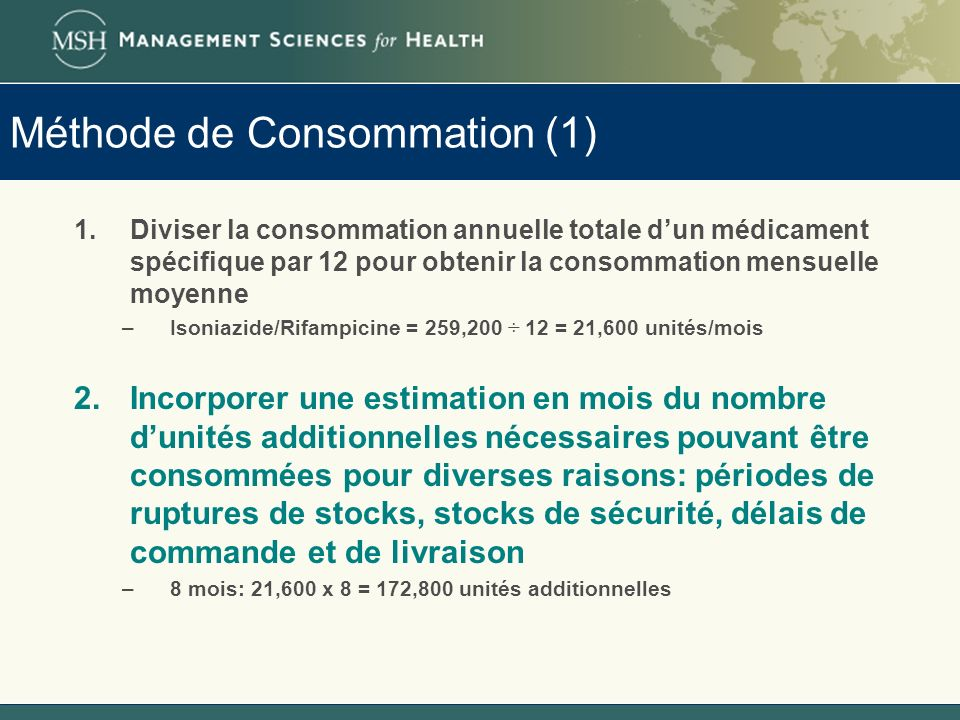 Méthode de Consommation (1)
