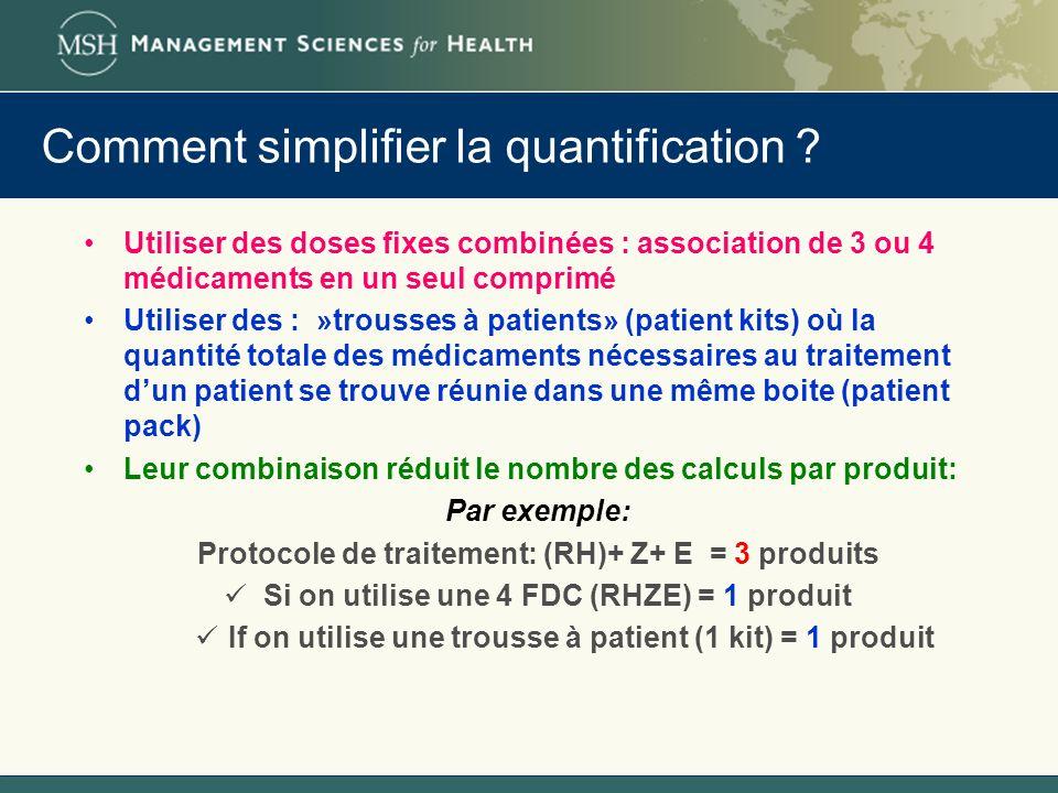 Comment simplifier la quantification