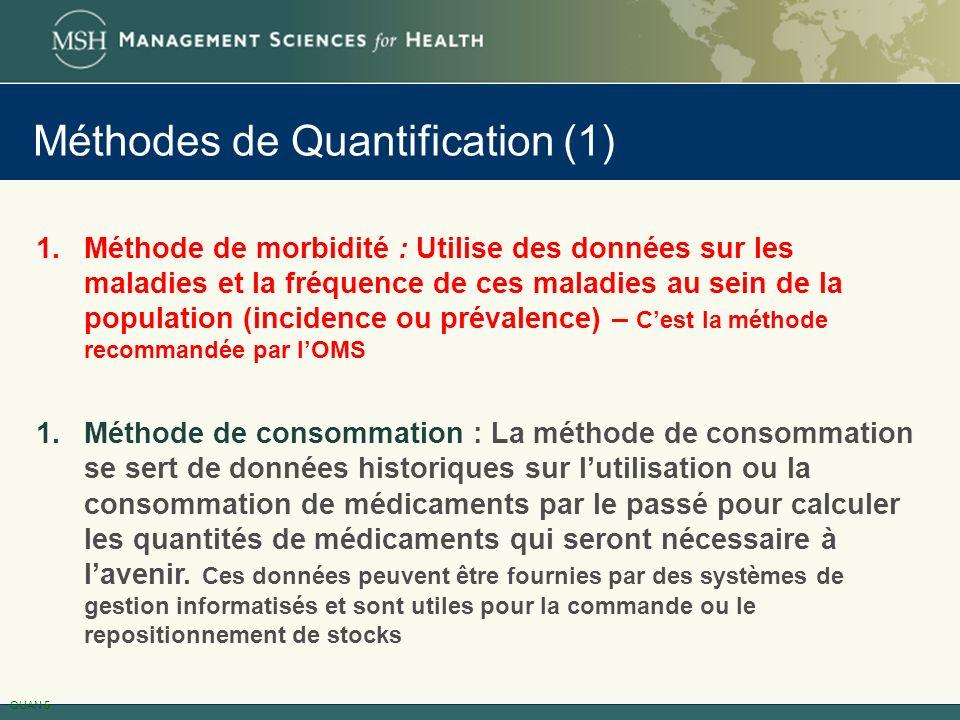 Méthodes de Quantification (1)