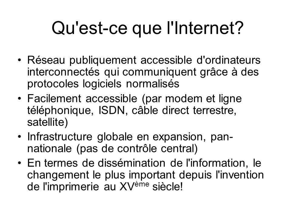 Qu est-ce que l Internet