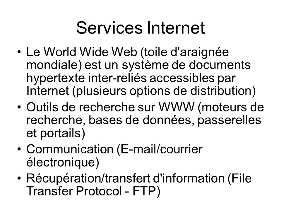 Services Internet