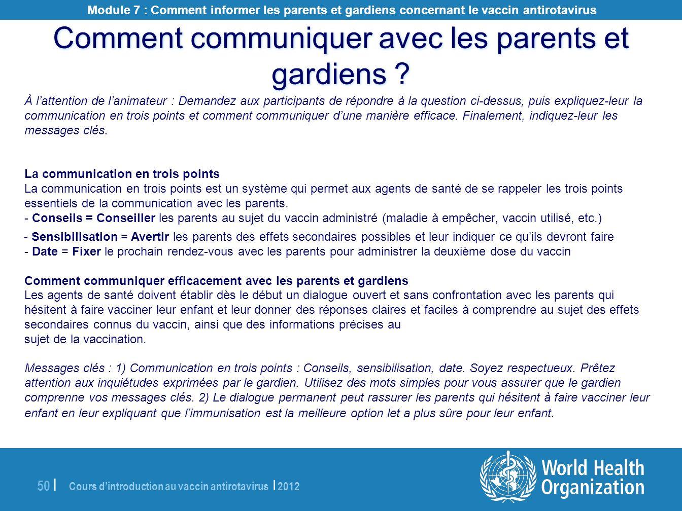 Comment communiquer avec les parents et gardiens
