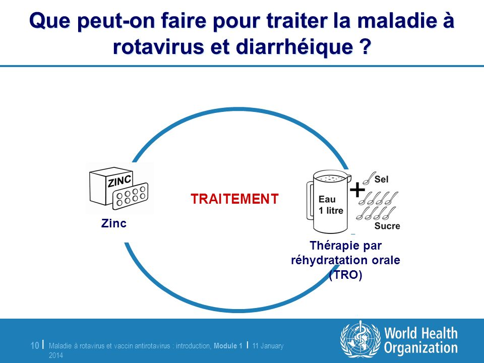 Que peut-on faire pour traiter la maladie à rotavirus et diarrhéique