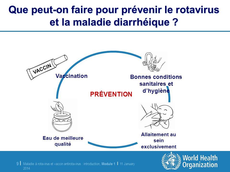 Que peut-on faire pour prévenir le rotavirus