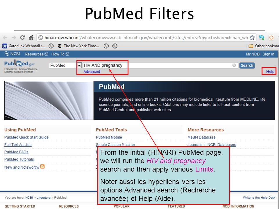 PubMed Filters
