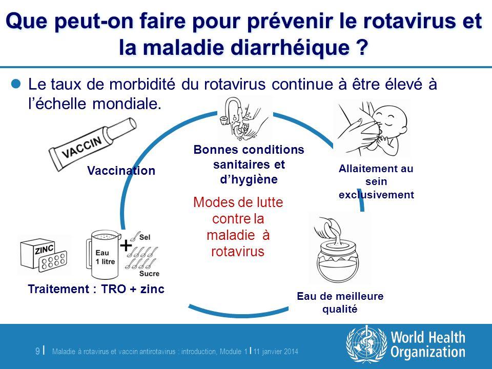 Que peut-on faire pour prévenir le rotavirus et la maladie diarrhéique