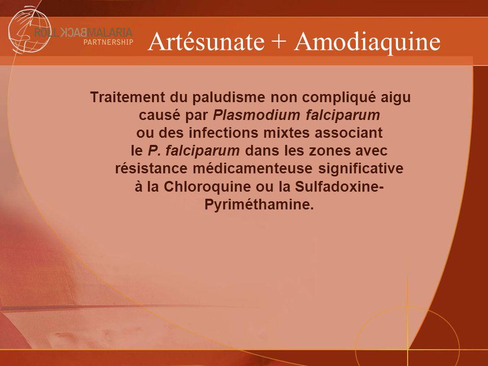 Artésunate + Amodiaquine