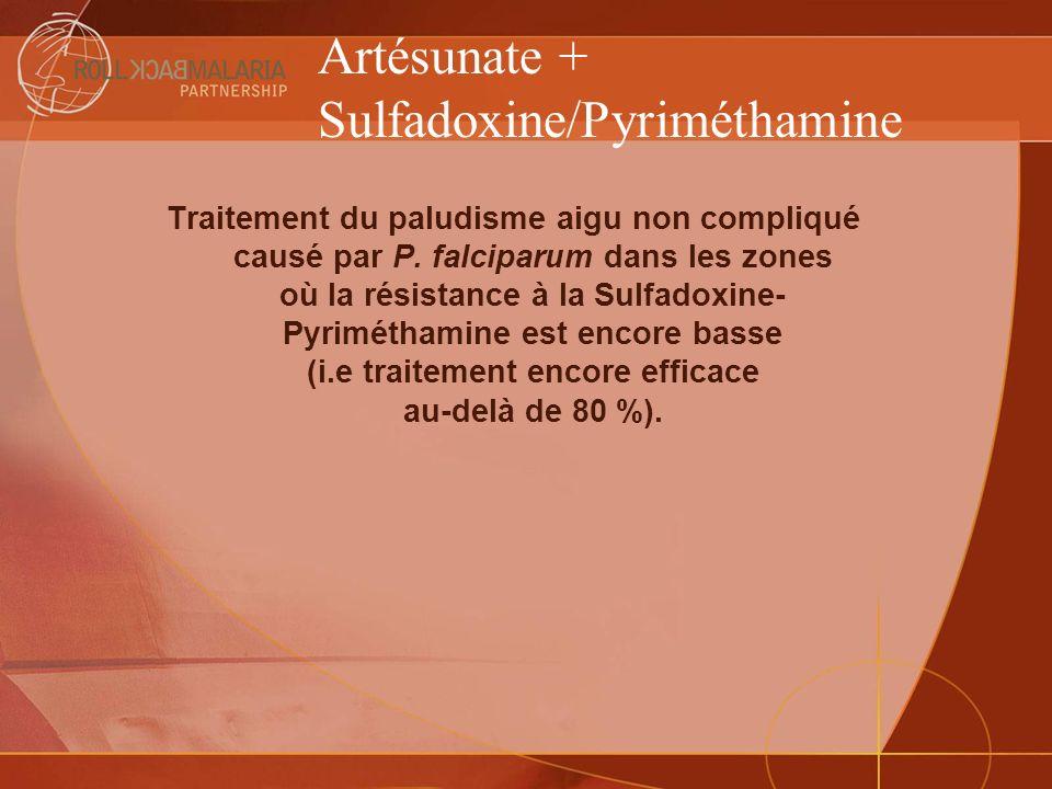 Artésunate + Sulfadoxine/Pyriméthamine