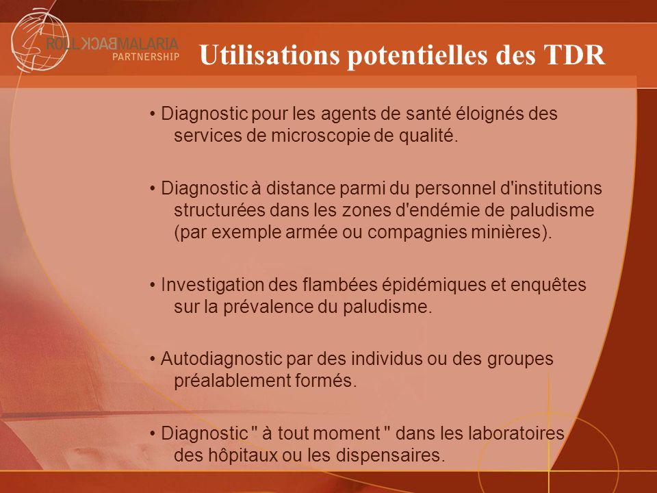 Utilisations potentielles des TDR
