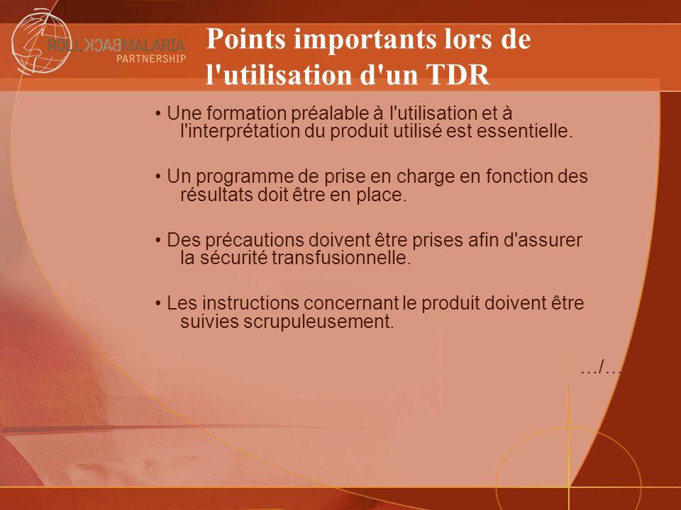 Points importants lors de l utilisation d un TDR
