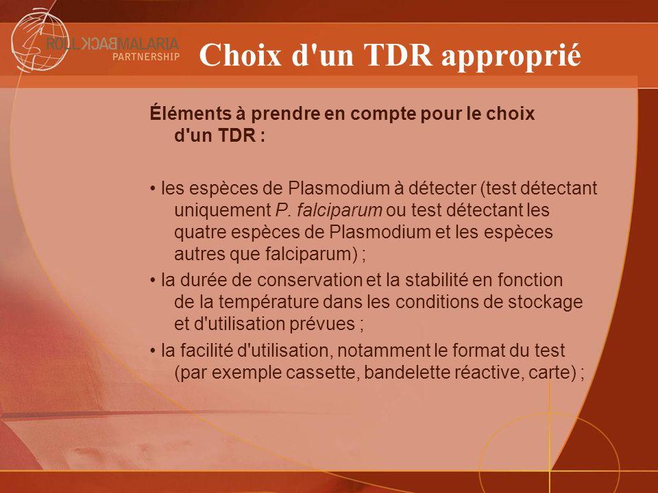 Choix d un TDR approprié