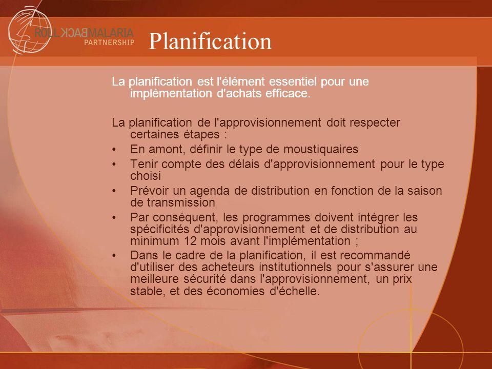 Planification La planification est l élément essentiel pour une implémentation d achats efficace.