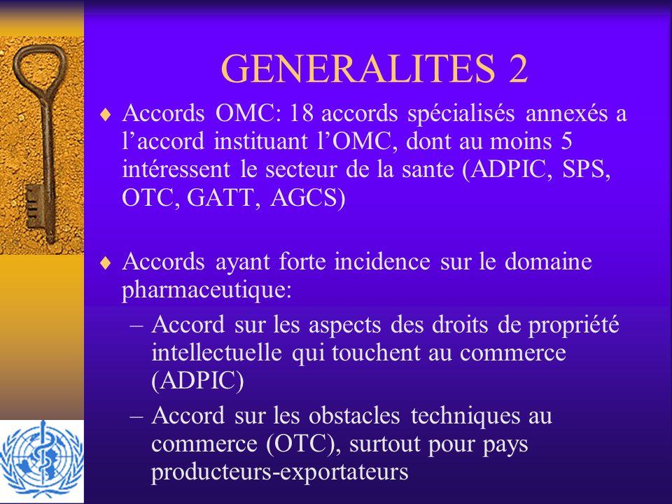 GENERALITES 2