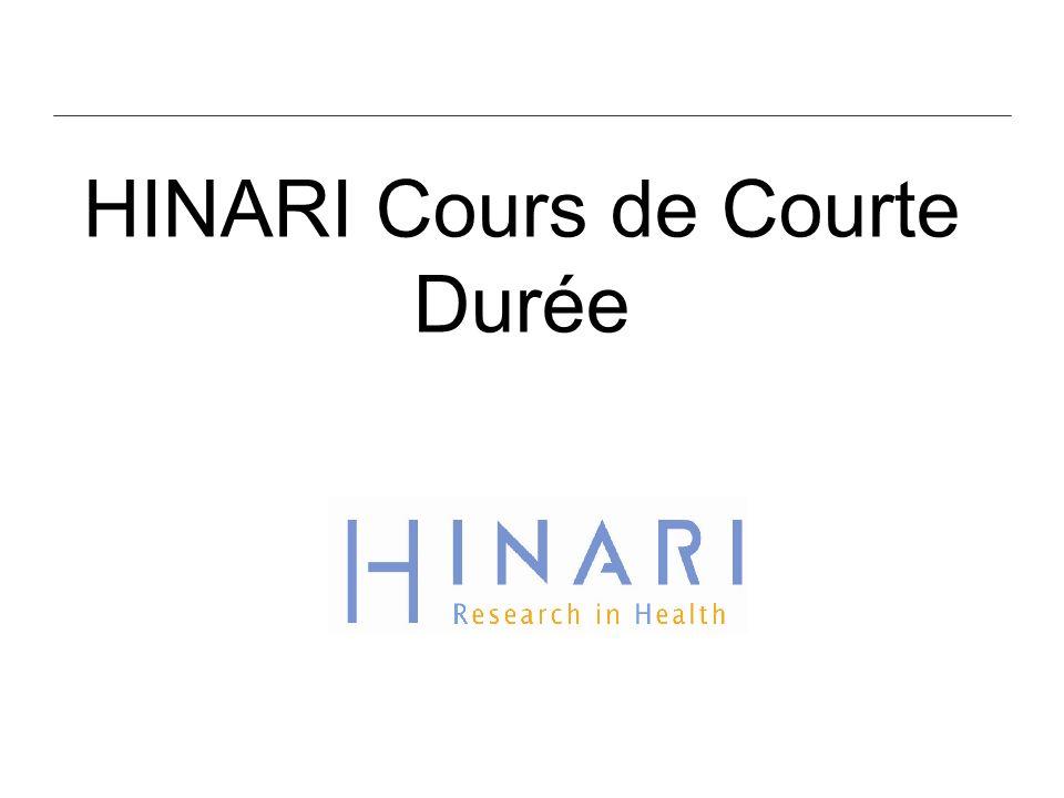 HINARI Cours de Courte Durée