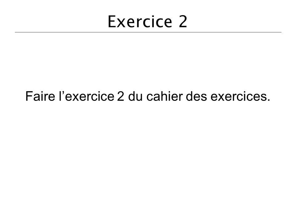 Faire l'exercice 2 du cahier des exercices.