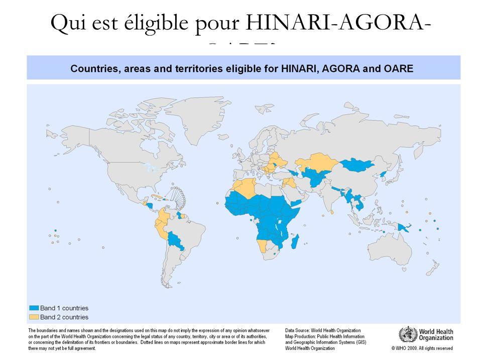 Qui est éligible pour HINARI-AGORA-OARE