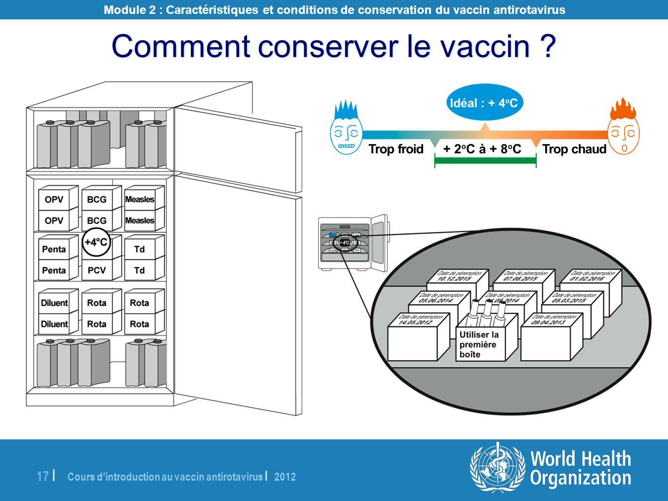 Comment conserver le vaccin