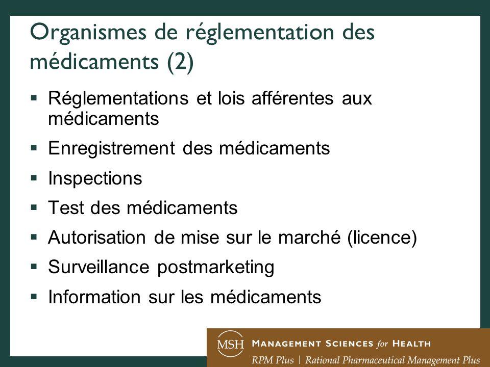 Organismes de réglementation des médicaments (2)