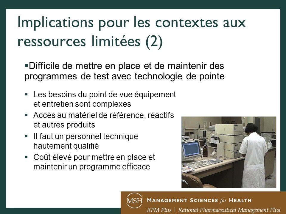 Implications pour les contextes aux ressources limitées (2)