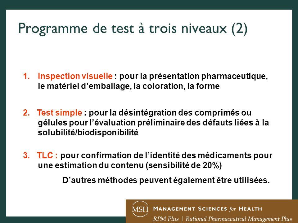 Programme de test à trois niveaux (2)