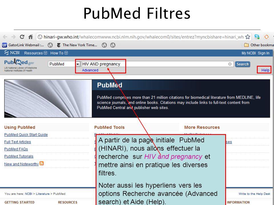 PubMed Filtres