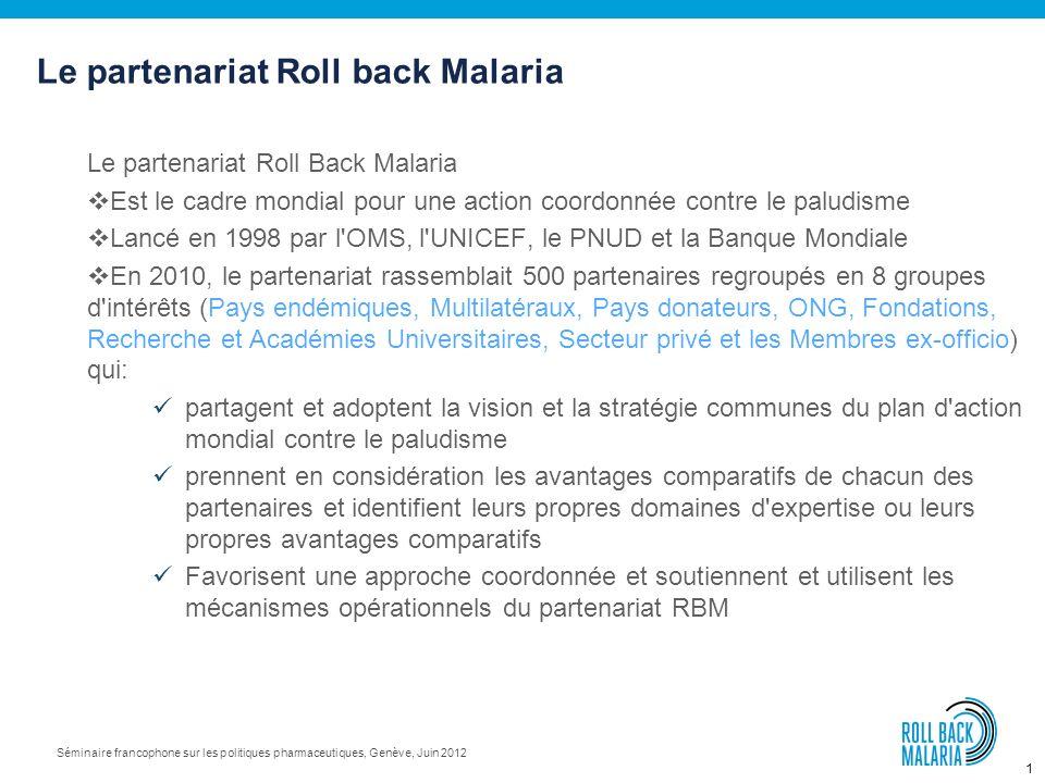Le partenariat Roll back Malaria