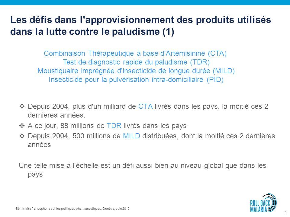 Les défis dans l approvisionnement des produits utilisés dans la lutte contre le paludisme (1)