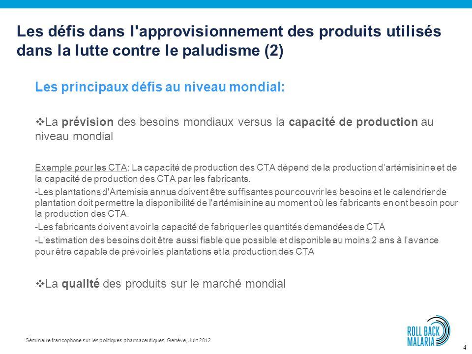 Les défis dans l approvisionnement des produits utilisés dans la lutte contre le paludisme (2)