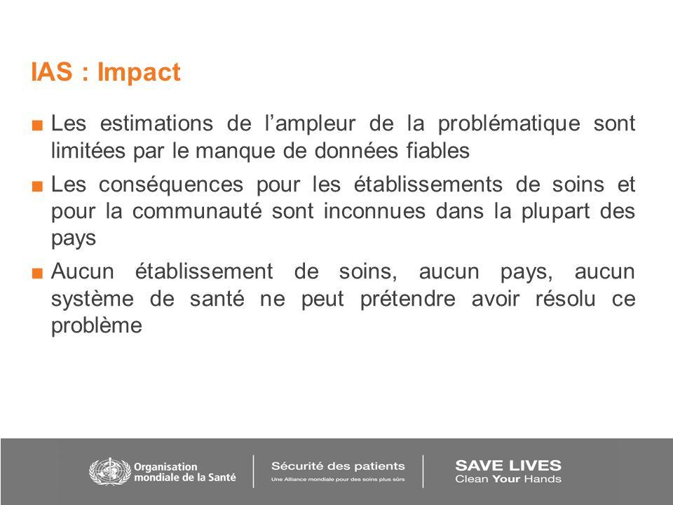 IAS : Impact Les estimations de l'ampleur de la problématique sont limitées par le manque de données fiables.