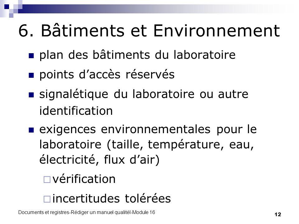 6. Bâtiments et Environnement