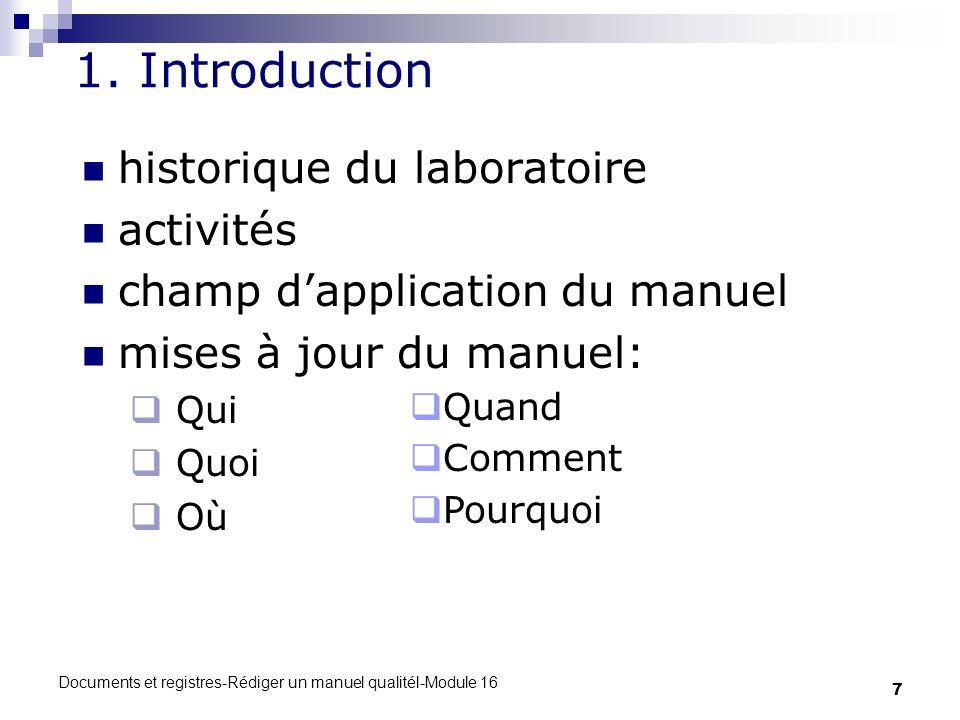 1. Introduction historique du laboratoire activités