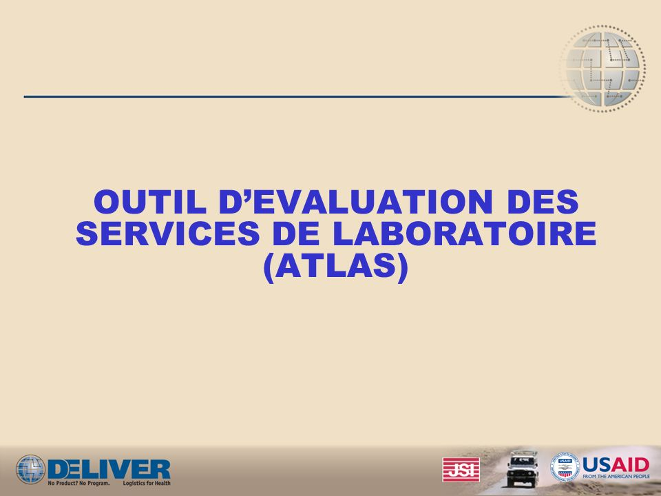 OUTIL D'EVALUATION DES SERVICES DE LABORATOIRE (ATLAS)