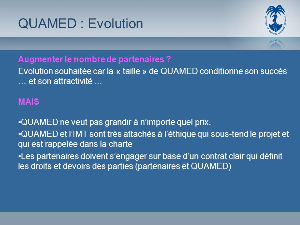 QUAMED : Evolution Augmenter le nombre de partenaires