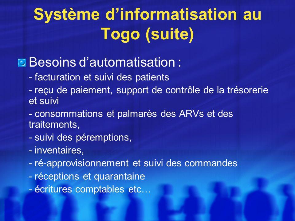 Système d'informatisation au Togo (suite)
