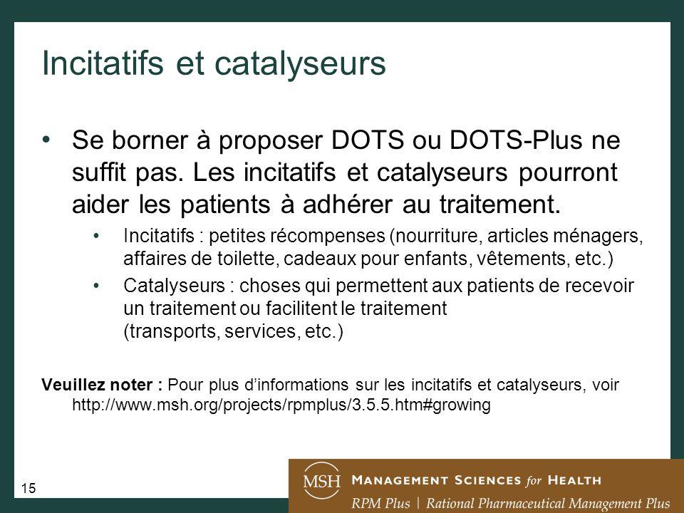 Incitatifs et catalyseurs
