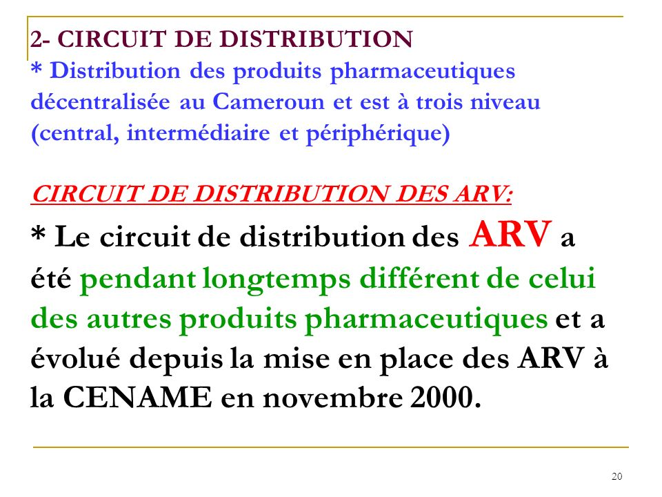2- CIRCUIT DE DISTRIBUTION