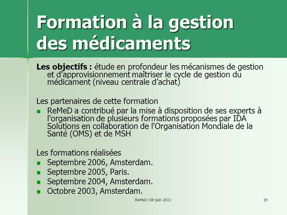 Formation à la gestion des médicaments