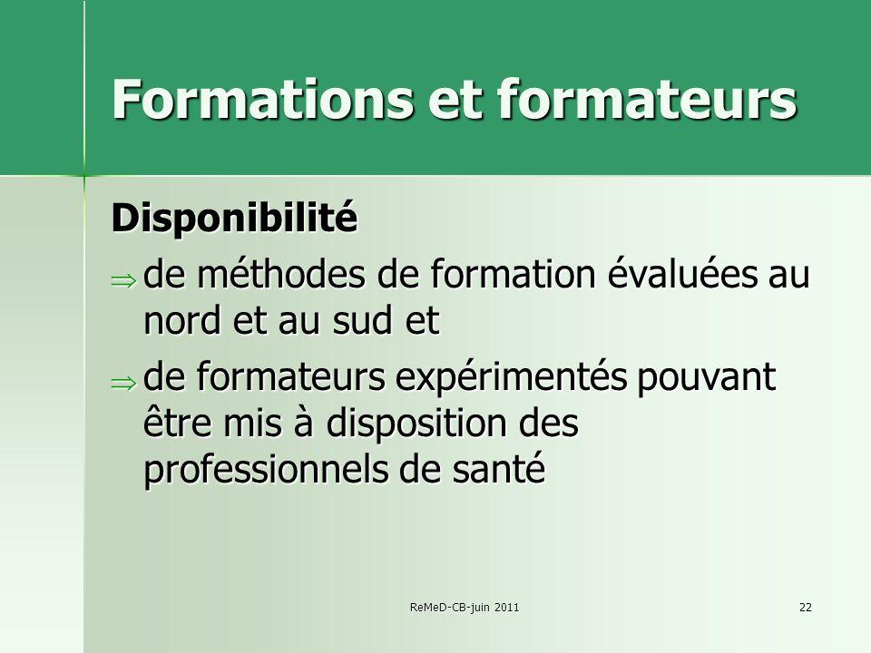 Formations et formateurs