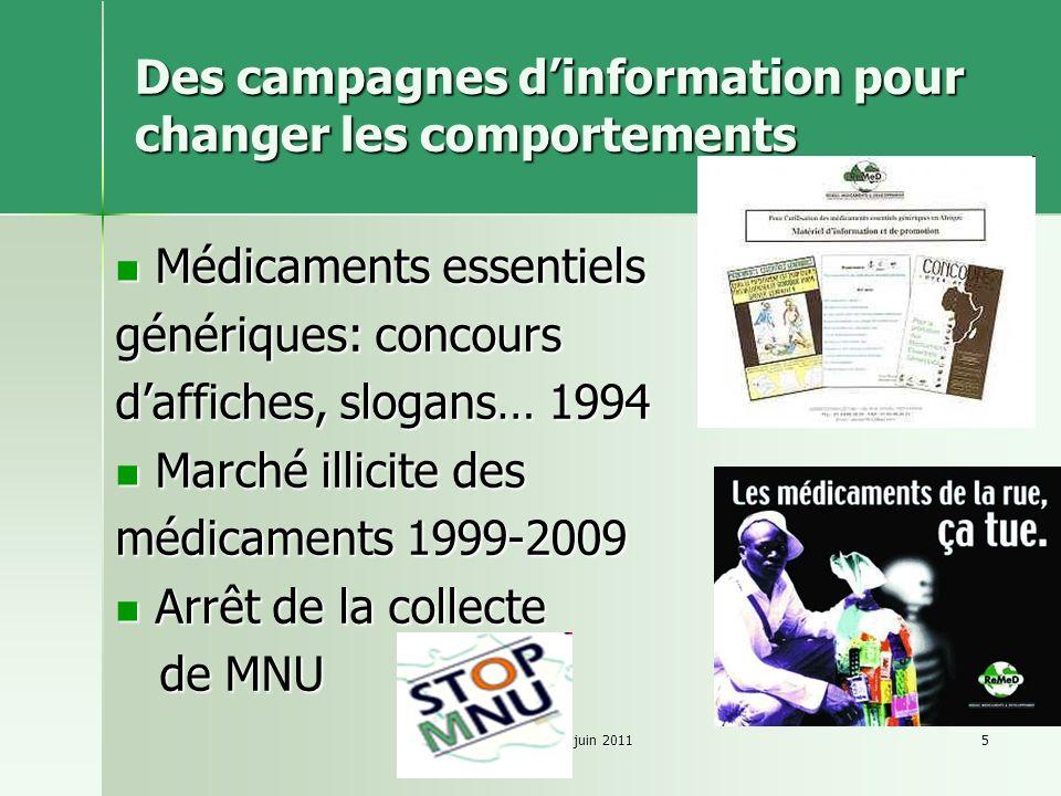 Des campagnes d'information pour changer les comportements