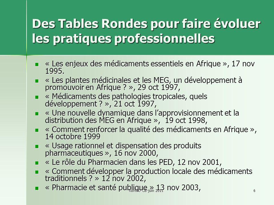 Des Tables Rondes pour faire évoluer les pratiques professionnelles