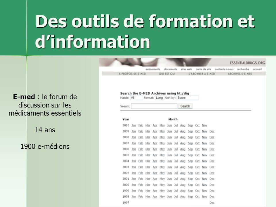 Des outils de formation et d'information