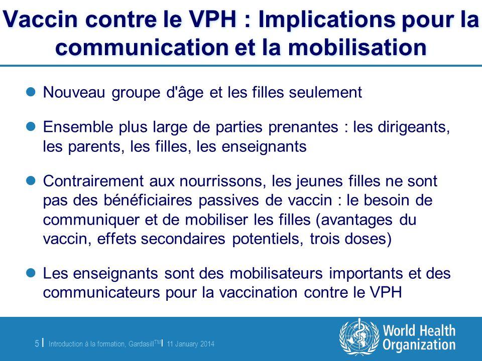 Vaccin contre le VPH : Implications pour la communication et la mobilisation